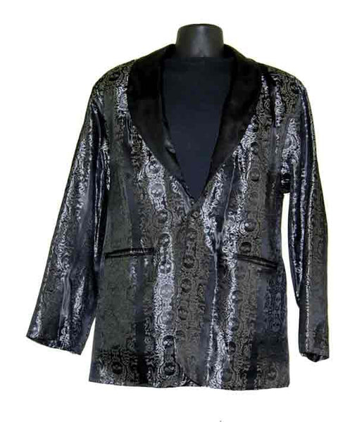 Tribal Skull-Silver Smoking Jacket