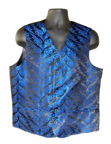 Blue Tribal Vest