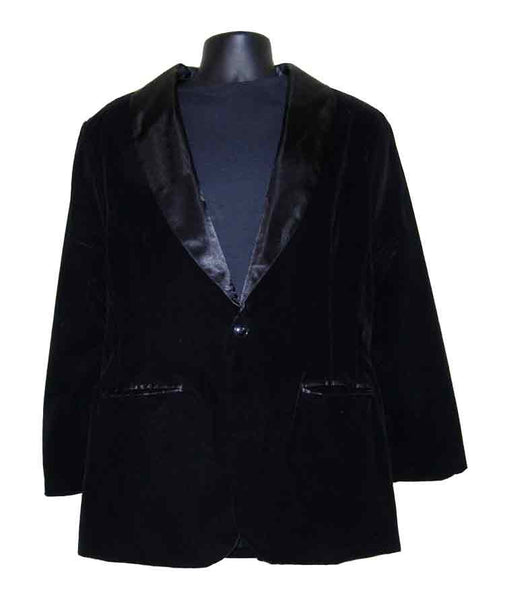 Velvet-Black Smoking Jacket