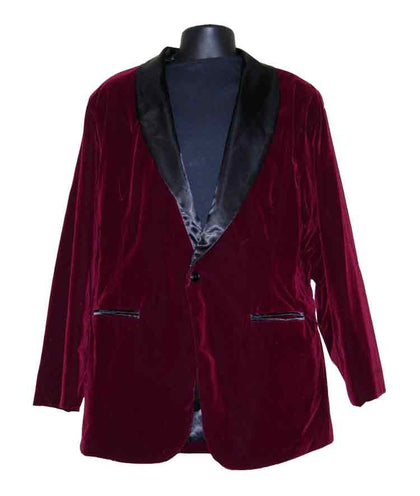 Velvet-Burgandy Smoking Jacket