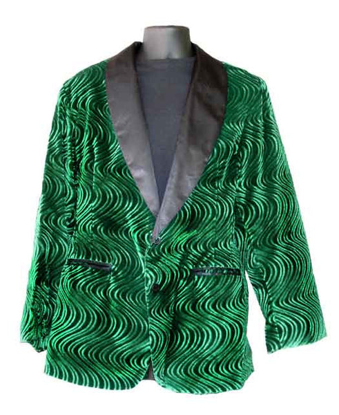 Wave Velvet-Green Smoking Jacket