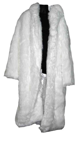 Fur-White Pimp Coat
