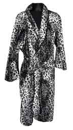 Leopard-White Fur Robe
