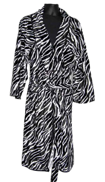 Zebra-Fur Robe