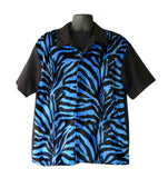 Zebra-Blue Fur Contrast Shirt