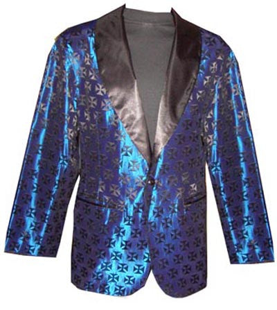 Iron Cross-Blue Smoking Jacket
