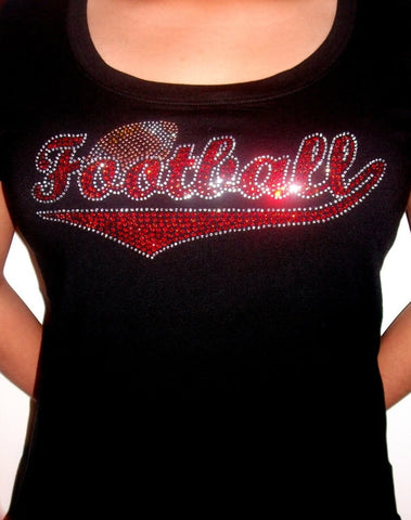 Football - Red Rhinestones