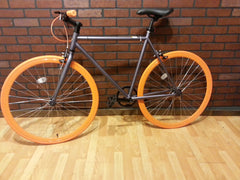 Fixed Gear - Grey with Orange