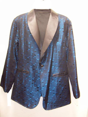 Martini-Blue Smoking Jacket