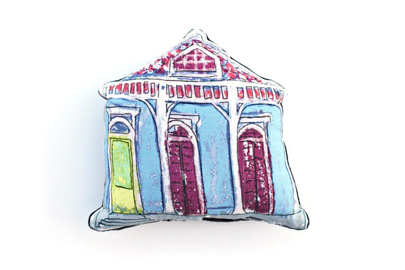 Creole Cottage Pillow – Blue