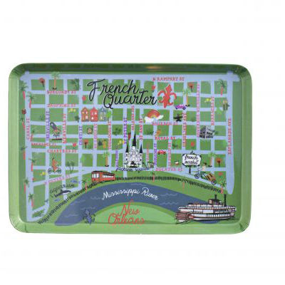 French Quarter Map Snack Tray