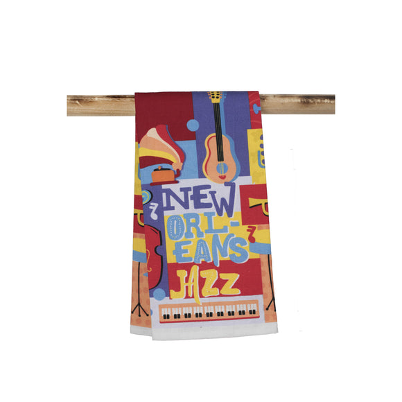 Colorful New Orleans Jazz Kitchen Towel
