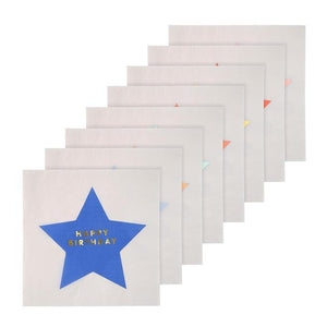 Jazzy Star Happy Birthday Napkins