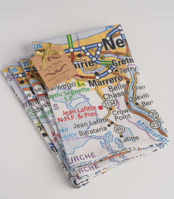 New Orleans Map Napkin Set