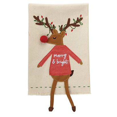 Reindeer Dangle Leg Towel