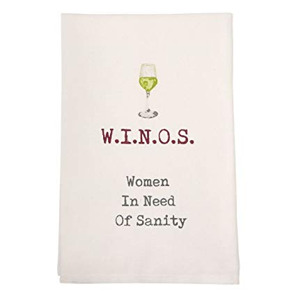 W.I.N.O.S Mud Pie Kitchen Towel