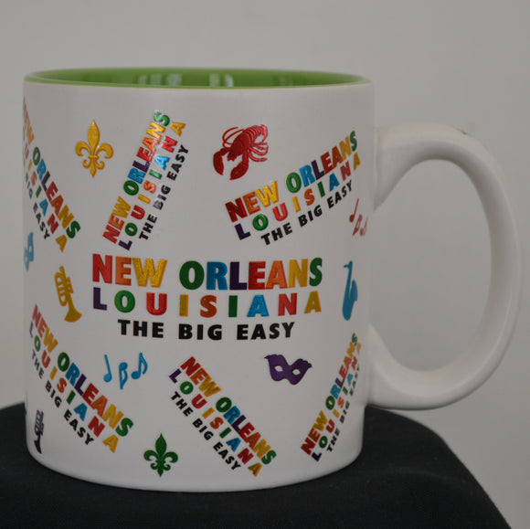Foil Mug with New Orleans words