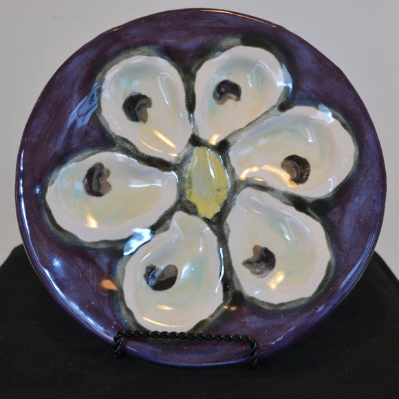 Half Dozen Carved Oyster Tray