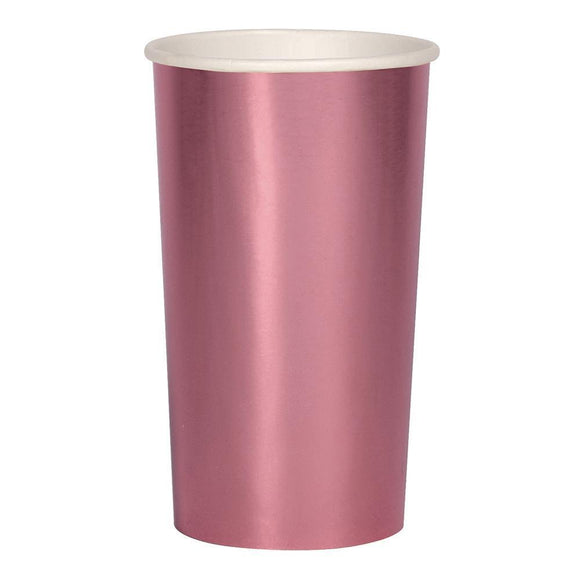 Metallic Pink Highball Cups