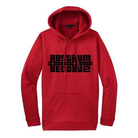 Logo Hooded Sweatshirt in Red/Black