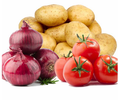 Potato Tomato Onion (1 Kg Each)