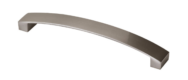 Contemporary Bow:- Finish: Brushed Nickel:- Hole Centre: 128mm