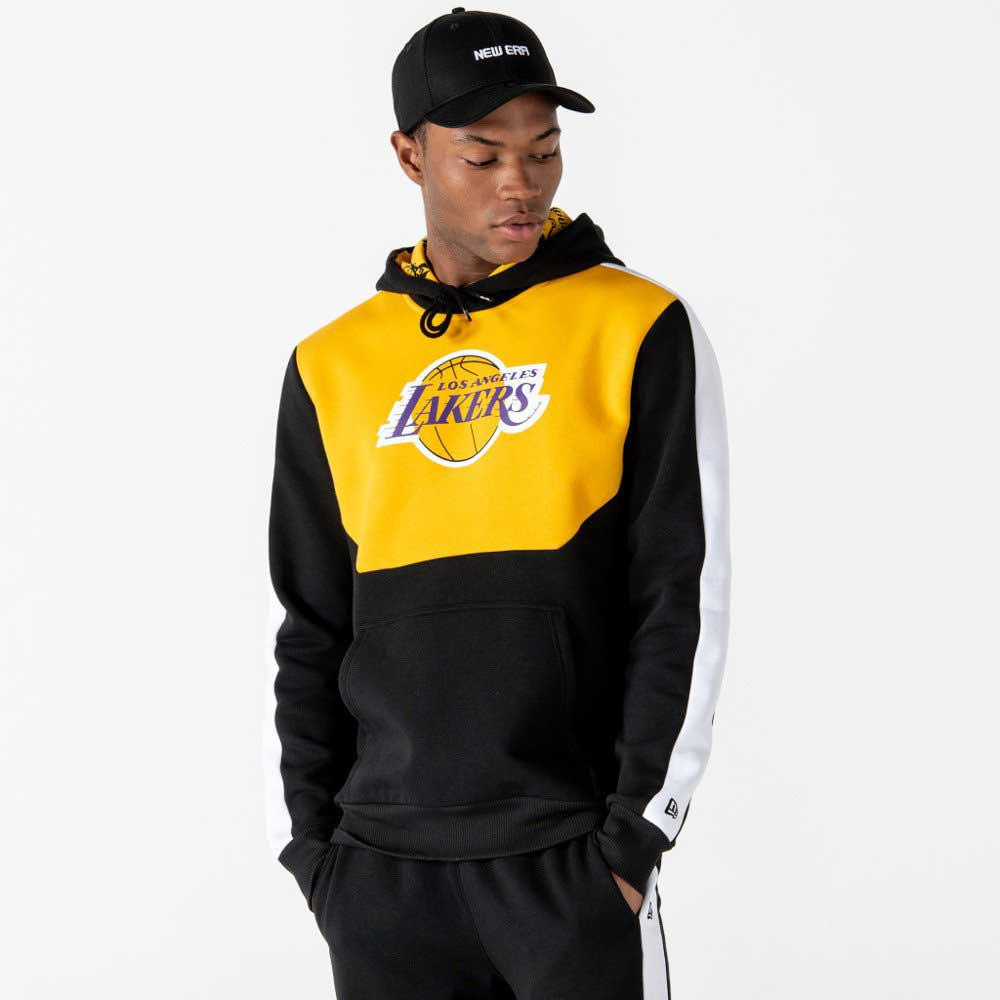 NBA Colour Block Hoody Los Angeles Lakers