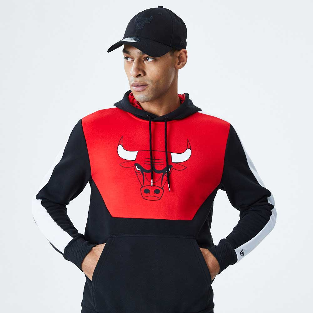 NBA Colour Block Hoody Chicago Bulls Blkfdr
