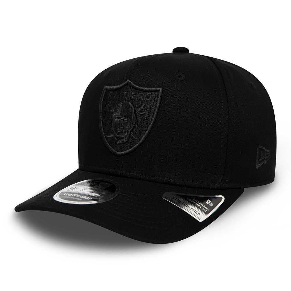 Tonal Black 9FIFTY Stretch Snap  Oakland Raiders