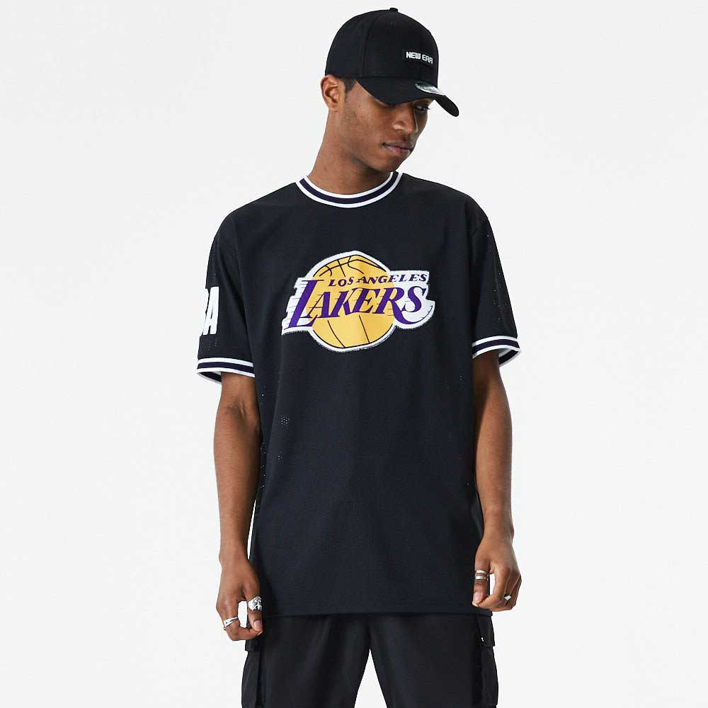 New Era NBA Oversized Applique Los Angeles Lakers Póló