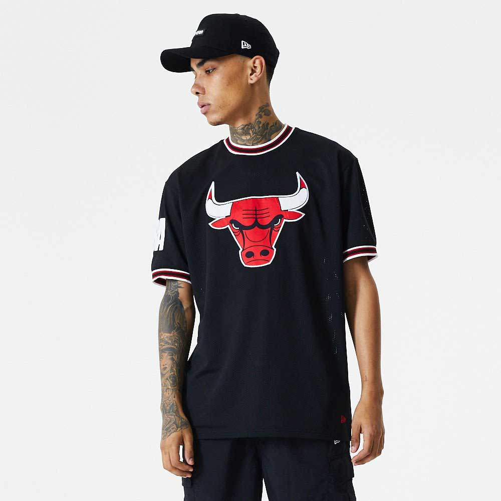 NBA Oversized Applique Tee Chicago Bulls Black