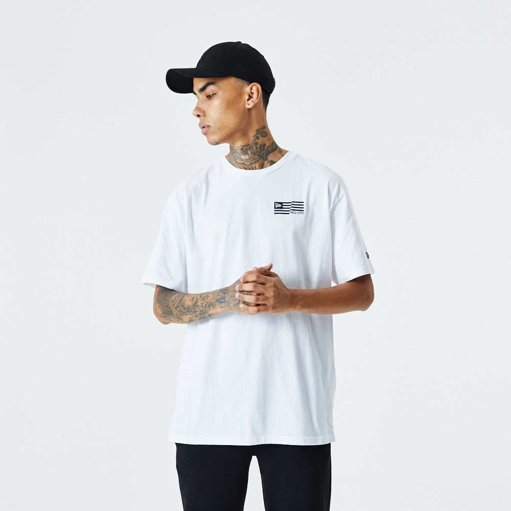 Contrast Graphic Print Tee White