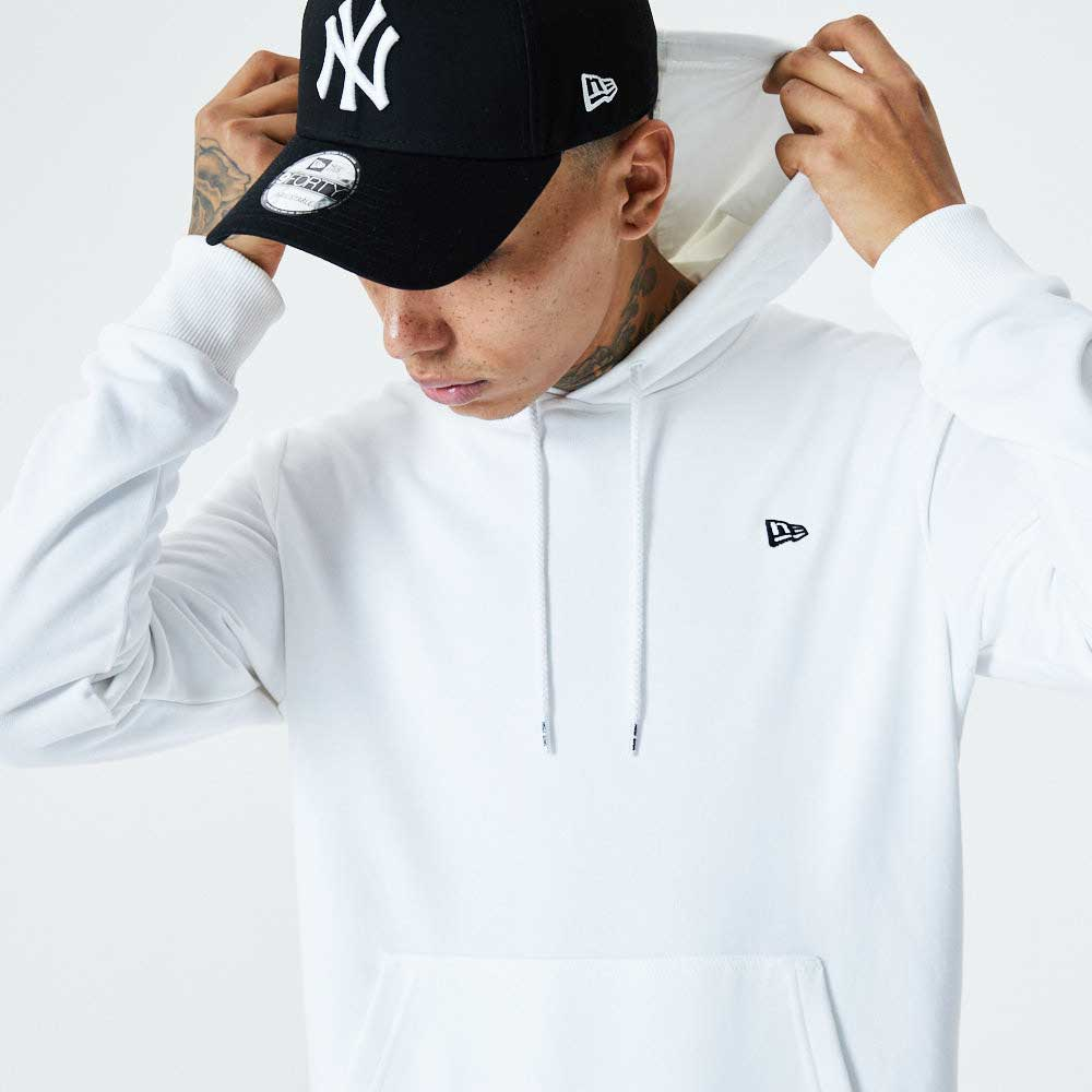 NE Essential Flag Hoody White