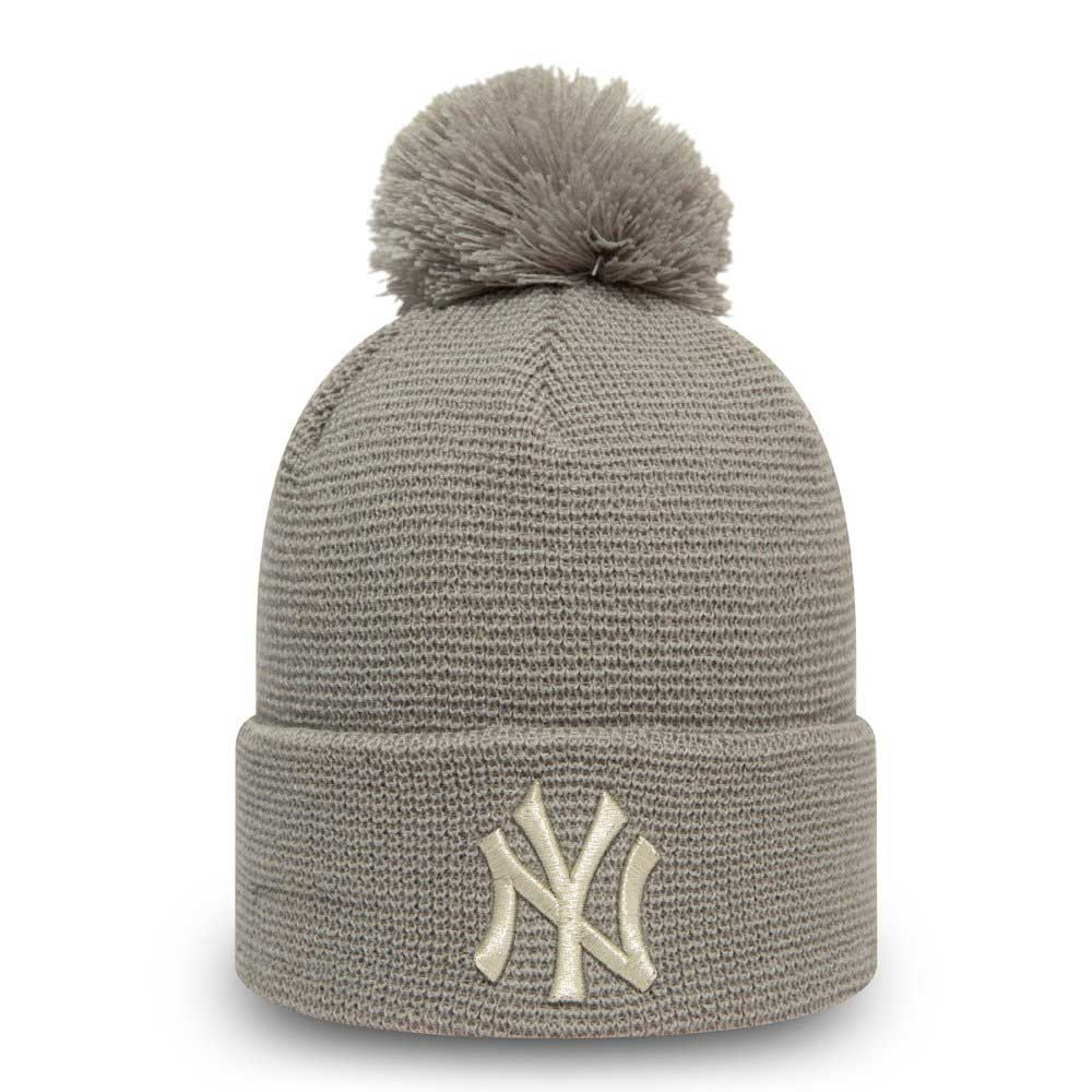 Wmns Bobble Cuff Knit New York Yankees Gra