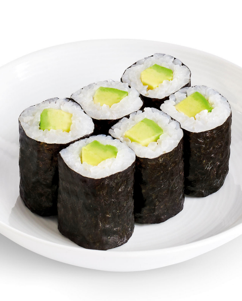 Avocado mini sushi roll (vegan)