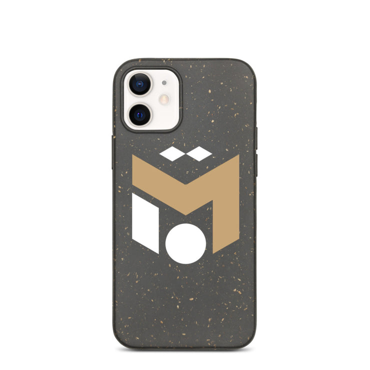 Gold & White Eco-iphone Case (6288634544313)