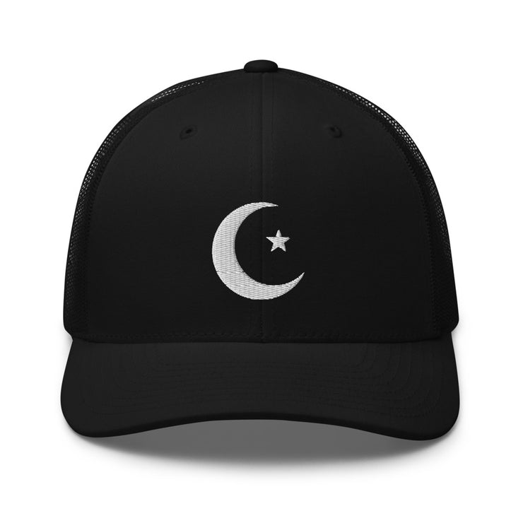 White Moon & Star Cap