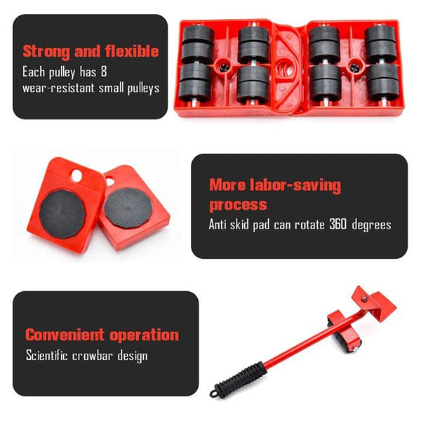 (🔥🔥 Only 50% Off Today)Furniture Lifting Tool 5 Sets