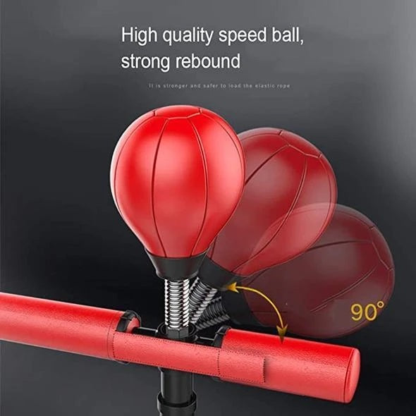 Freestanding heavy-duty vertical training boxing ball with 360° reflection rod