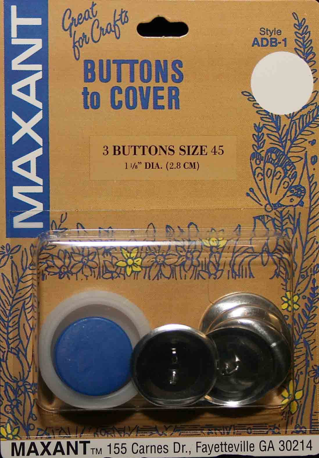 "Cover Button Kit - 1 1/8"" (3 Buttons)"