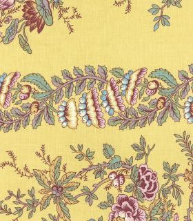 French General for Moda Fabrics, Pom Pom de Paris, Mustard - $16/yard
