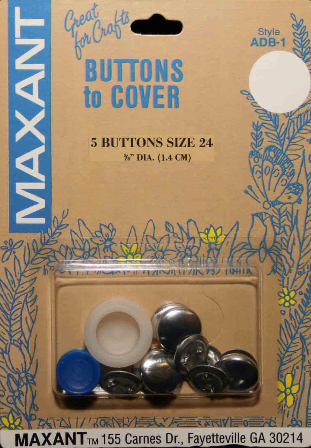 "Cover Button Kit - 5/8"" (6 Buttons)"