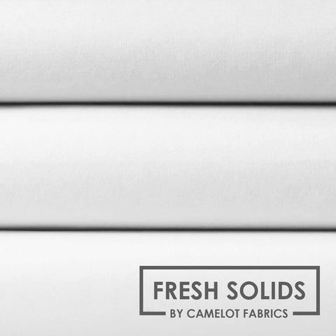 Camelot Fabrics Fresh Solids in White -- $10/Yard