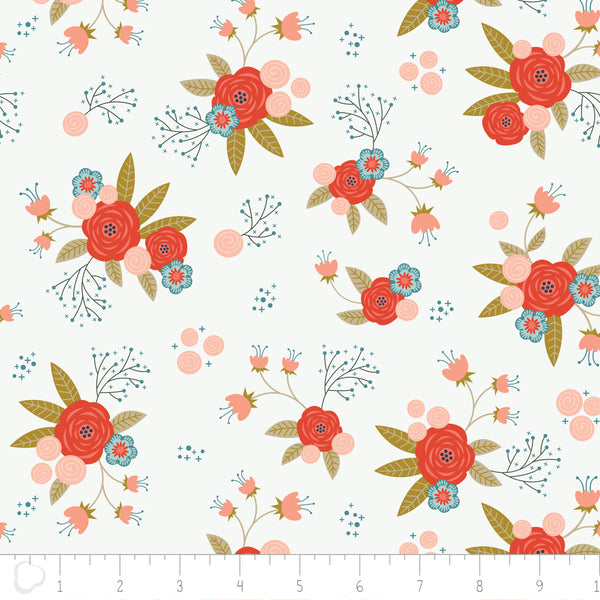 Camelot Fabrics Happy Thoughts - Floral in White -- $12/Yard