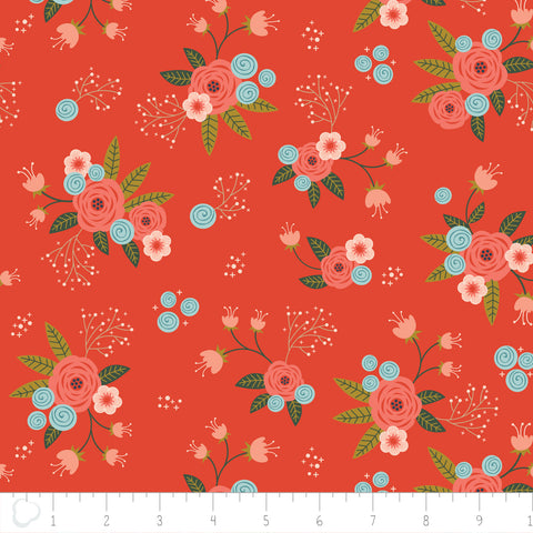 Camelot Fabrics Happy Thoughts - Floral in Tandoori -- $12/Yard