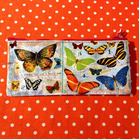 Blue Q - Butterfly Pencil Case