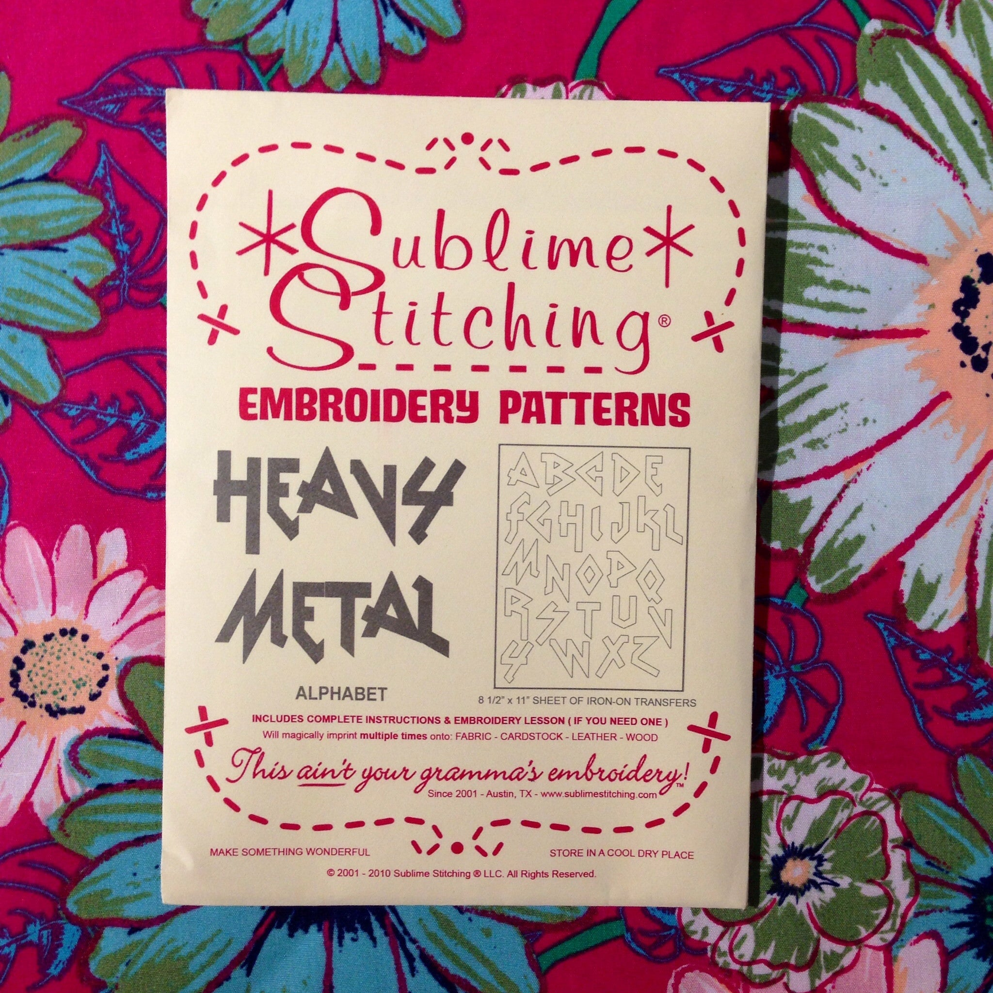 Sublime Stitching Embroidery Patterns - Heavy Metal Alphabet