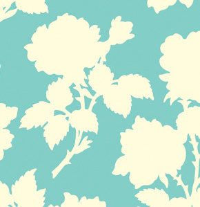 Heather Bailey Garden District Canvas, Aqua - $16/yard
