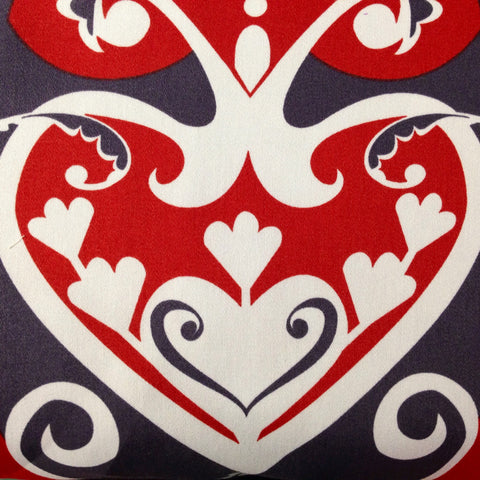 Anna Maria Horner Home Decor Sateen Queen of Hearts, Red - $16/yard