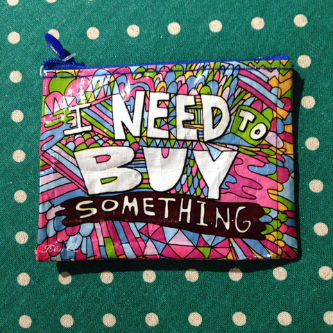 Blue Q - I Need to Buy Something Coin Purse